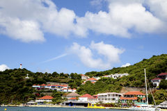 Gustavia Harbor, St. Barths, French West indies Stock Photos