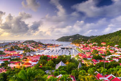 St. Barts Skyline Royalty Free Stock Photo