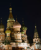 St. Basil's cathedral. At night (Red square, Moscow, Russia Stock Images