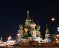 St. Basil's cathedral. At night (Red square, Moscow, Russia Royalty Free Stock Photo