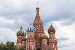 St.Basil大教堂,红场,莫斯科 库存照片