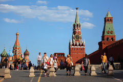 St. Basil the Blessed Cathedral and Kremlin Stock Photography