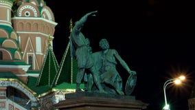 St Basil (cathédrale de la protection de la Vierge sur le fossé) Moscou banque de vidéos