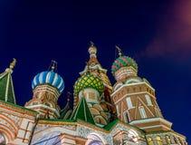 St Basil& x27 ; cathédrale de s la nuit Images libres de droits