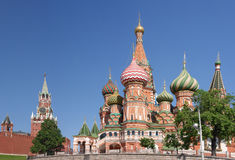St. Basil Cathedral. A view of the St. Basil's Cathedral, Russia, Moscow royalty free stock image