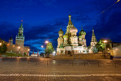 St. Basil Cathedral. Moscow, Russia Stock Photos