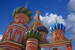 St. Basil Cathedral. Vasiliy Blazhenniy church on red square in Moscow Stock Image