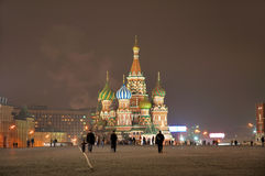 St. Basil Cathedral [at Night] 2 Royalty Free Stock Images