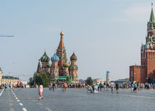 St Basil Cathedral de Moscou sur la place rouge Photographie stock libre de droits