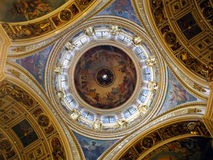 St Basil Cathedral Dome StPetersburg, Russia, dentro Immagine Stock