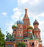 St. Basil Cathedral em Moscou Fotografia de Stock