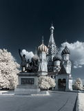 St. Basil Cathedral. Infrared. Royalty Free Stock Image