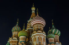 St Basil Cathedral la nuit, Moscou, Russie Image stock