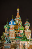 St Basil Cathedral la nuit, Moscou, Russie Photographie stock