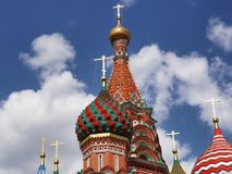 St Basil Cathedral In Moscow Lizenzfreie Stockfotos