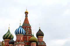 St Basil Cathedral In Moscow Stockbilder