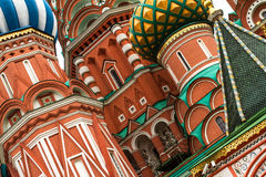 St Basil Cathedral In Moscow Stockfotos