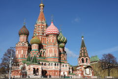 ST. BASIL CATHEDRAL MOSCOW. Russia Stock Photos