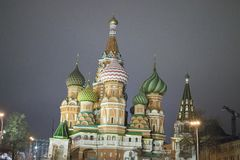 St. Basil Cathedral, Moscow Kremlin, night. St. Basil Cathedral, Moscow Kremlin, Moscow at night Royalty Free Stock Photos