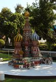 St. Basil Cathedral in Moscow in miniature park royalty free stock images