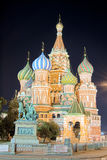 St. Basil Cathedral, Moscow in the night Stock Photo