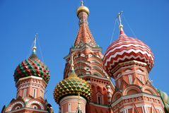 St. Basil cathedral in Moscow, Russia, Stock Images