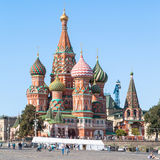 St Basil Cathedral in Moscow in summer afternoon Stock Images