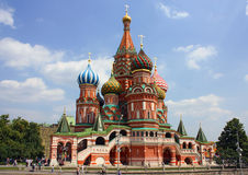 St. Basil Cathedral in Moscow. A view of the St. Basils Cathedral, Russia, Moscow royalty free stock image