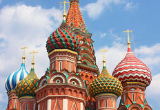 St. Basil Cathedral in Moskau Stockfotos