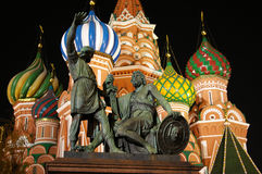 St. Basil Cathedral at the night Royalty Free Stock Images