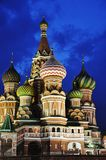 St.Basil Cathedral at Night Stock Photo