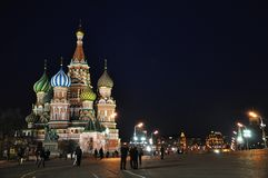 St.Basil Cathedral at Night Stock Photos