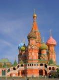 St. Basil Cathedral no quadrado vermelho, (catedral da proteção do Virgin na vala) Imagem de Stock Royalty Free
