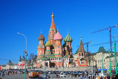 St Basil Cathedral, place rouge, Moscou, Russie. Photos libres de droits