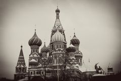 St Basil Cathedral, place rouge, Moscou, Russie. Photographie stock libre de droits