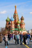 St Basil Cathedral, place rouge, Moscou, Russie. Image stock