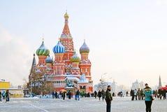 St. Basil Cathedral, Plaza Roja, Moscú, Rusia. Mundo de la UNESCO él Imagen de archivo