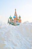 St. Basil Cathedral, quadrado vermelho, Moscou Fotografia de Stock