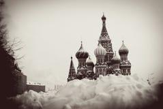 St. Basil Cathedral, quadrado vermelho, Moscou, Rússia. Fotografia de Stock