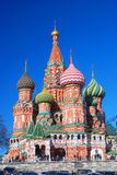 St. Basil Cathedral, quadrado vermelho, Moscou, Rússia. Imagens de Stock