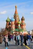 St. Basil Cathedral, quadrado vermelho, Moscou, Rússia. Imagem de Stock