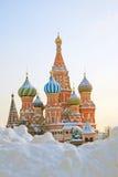 St. Basil Cathedral, quadrado vermelho, Moscou, Rússia. Mundo do UNESCO ele Fotografia de Stock
