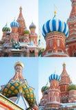 St. Basil Cathedral, quadrado vermelho, Moscovo Imagem de Stock