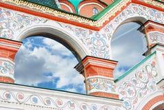 St. Basil Cathedral, quadrado vermelho, Moscovo, Rússia. Foto de Stock Royalty Free