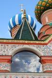 St. Basil Cathedral, quadrado vermelho, Moscovo, Rússia. Imagens de Stock