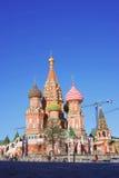 St. Basil Cathedral, röd fyrkant, Moskva, Ryssland. Royaltyfria Foton