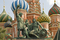 St.Basil Cathedral on Red Square in Moscow Stock Photos