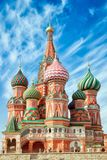 St. Basil Cathedral. Red Square, Moscow. Close up vertical orientation Royalty Free Stock Photography
