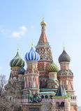 St. Basil Cathedral on Red Square in Moscow. Royalty Free Stock Images