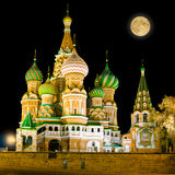 St. Basil Cathedral on Red Square in Moscow. Royalty Free Stock Photography